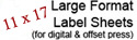 11 x 17 Large Format Label Sheets Save on Click Charges