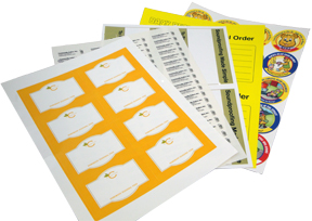 Custom Printed Labels Sheets