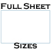 11 X 17 Process Blue Uncoated Full Sheet Labels