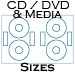11 X 17 Fluorescent YELLOW CD / DVD / Media Labels