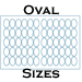 11 X 17 Process Blue Uncoated Oval Label Sheets