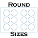 11 X 17 Process Blue Uncoated Round Label Sheets