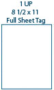 8 1/2 x 11 Rectangle Full Sheet Hang Tag Sheet<BR>Brown Kraft Micro-nikked Hang Tag Sheet<BR>Wholesale Pkg. 250 sheets<BR><B>USUALLY SHIPS WITHIN 24 HRS</B>