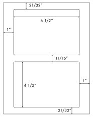 6 1/2 x 4 1/2 Rectangle <BR>Clear Gloss Inkjet Label Sheet<BR>Wholesale Pkg. 250 sheets<BR><B>USUALLY SHIPS WITHIN 24 HRS</B>