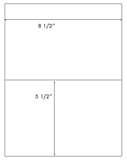 8 1/2 x 5 1/2 Rectangle <BR>White High Gloss Laser Label Sheet<BR>Wholesale Pkg. 250 sheets<BR><B>USUALLY SHIPS WITHIN 24 HRS</B>