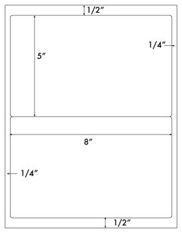 8 x 5 Rectangle<BR>Brown Kraft Label Sheet<BR>Wholesale Pkg. 250 sheets<BR><B>USUALLY SHIPS WITHIN 24 HRS</B>