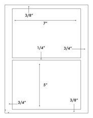 7 x 5 Rectangle <BR>Khaki Tan Printed Label Sheet<BR><B>USUALLY SHIPS IN 2-3 BUSINESS DAYS</B>
