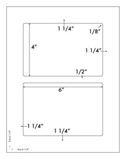 6 x 4 Rectangle <BR>White High Gloss Laser Label Sheet<BR>Wholesale Pkg. 250 sheets<BR><B>USUALLY SHIPS WITHIN 24 HRS</B>