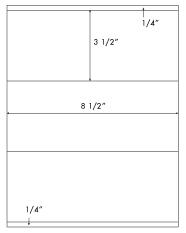 8 1/2 x 3 1/2 Rectangle <BR>Khaki Tan Label Sheet<BR>Wholesale Pkg. 250 sheets<BR><B>USUALLY SHIPS WITHIN 24 HRS</B>