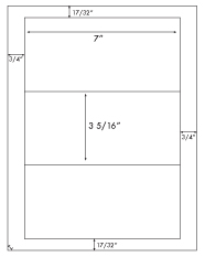 7 x 3 5/16 Rectangle <BR>Khaki Tan Printed Label Sheet<BR><B>USUALLY SHIPS IN 2-3 BUSINESS DAYS</B>