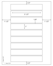 5 1/2 x 1 Rectangle <BR>Clear Matte Inkjet Label Sheet<BR>Wholesale Pkg. 250 sheets<BR><B>USUALLY SHIPS WITHIN 24 HRS</B>