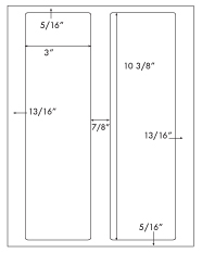 3 x 10 3/8 Rectangle <BR>Standard White Uncoated Label Sheet<BR>Wholesale Pkg. 250 sheets<BR><B>USUALLY SHIPS WITHIN 24 HRS</B>