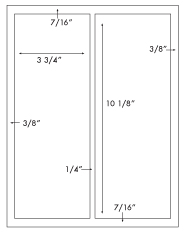 3 3/4 x 10 1/8 Rectangle <BR>Natural Ivory Label Sheet<BR>Wholesale Pkg. 250 sheets<BR><B>USUALLY SHIPS WITHIN 3 DAYS</B>