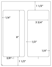 3 3/4 x 8 Rectangle <BR>Clear Gloss Laser Label Sheet<BR>Wholesale Pkg. 250 sheets<BR><B>USUALLY SHIPS WITHIN 24 HRS</B>