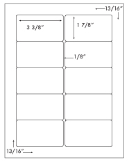 3 3/8 x 1 7/8 Rectangle <BR>Clear Matte Polyester Label Sheet<BR>Wholesale Pkg. 250 sheets<BR><B>USUALLY SHIPS WITHIN 24 HRS</B>