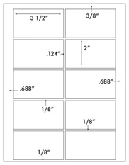 3 1/2 x 2 Rectangle w/ sq corners<BR>White High Gloss Laser Label Sheet<BR>Wholesale Pkg. 250 sheets<BR><B>USUALLY SHIPS WITHIN 24 HRS</B>