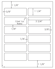 3 3/4 x 1 1/4 Rectangle<BR>White Opaque BLOCKOUT Label Sheet<BR>Wholesale Pkg. 250 sheets<BR><B>USUALLY SHIPS WITHIN 24 HRS</B>