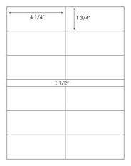 4 1/4 x 1 3/4 Rectangle<BR>Clear Gloss Laser Label Sheet<BR>Wholesale Pkg. 250 sheets<BR><B>USUALLY SHIPS WITHIN 24 HRS</B>