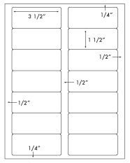 3 1/2 x 1 1/2 Rectangle <BR>Natural Ivory Label Sheet<BR>Wholesale Pkg. 250 sheets<BR><B>USUALLY SHIPS WITHIN 3 DAYS</B>