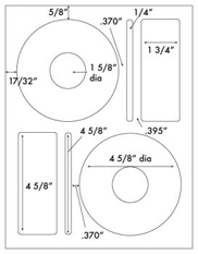 4 5/8 Diameter CD Kit<BR>All Temperature White Label Sheet<BR>Wholesale Pkg. 250 sheets<BR><B>USUALLY SHIPS WITHIN 24 HRS</B>