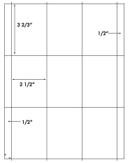 3 2/3 x 2 1/2 Rectangle <BR>White Opaque BLOCKOUT Label Sheet<BR>Wholesale Pkg. 250 sheets<BR><B>USUALLY SHIPS WITHIN 24 HRS</B>