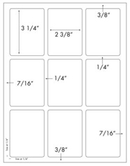 2 3/8 x 3 1/4 Rectangle <BR>Clear Gloss Laser Label Sheet<BR>Wholesale Pkg. 250 sheets<BR><B>USUALLY SHIPS WITHIN 24 HRS</B>