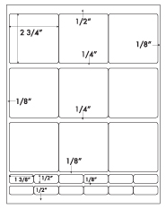 2 3/4 x 2 3/4 Square & & 1 3/8 x 1/2 Rectangle<BR>Khaki Tan Label Sheet<BR>Wholesale Pkg. 250 sheets<BR><B>USUALLY SHIPS WITHIN 24 HRS</B>
