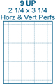 2 1/4 x 3 1/4 Rectangle w/ no pre-drilled hole<BR>White High Gloss Perforated Hang Tag Sheet<BR>Wholesale Pkg. 250 sheets<BR><B>USUALLY SHIPS WITHIN 24 HRS</B>