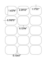 2.0625 x 1.625 Rectangle <BR>White Photo Gloss Inkjet Label Sheet<BR>Wholesale Pkg. 250 sheets<BR><B>USUALLY SHIPS WITHIN 24 HRS</B>