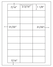 2 3/16 x 1 1/8 Rectangle <BR>White Photo Gloss Inkjet Label Sheet<BR>Wholesale Pkg. 250 sheets<BR><B>USUALLY SHIPS WITHIN 24 HRS</B>