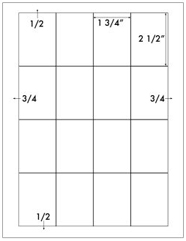 1 3/4 x 2 1/2 Rectangle <BR>Natural Ivory Printed Label Sheet<BR><B>USUALLY SHIPS IN 2-3 BUSINESS DAYS</B>