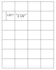 2 1/8 x 1.571 Rectangle <BR>White High Gloss Laser Label Sheet<BR>Wholesale Pkg. 250 sheets<BR><B>USUALLY SHIPS WITHIN 24 HRS</B>