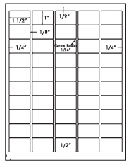 1 1/2 x 1 Rectangle (rounded corners) <BR>All Temperature White Label Sheet<BR>Wholesale Pkg. 250 sheets<BR><B>USUALLY SHIPS WITHIN 24 HRS</B>