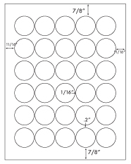 1 3/8&#34; Diameter Round Circle<BR>Clear Matte Polyester Label Sheet<BR>Wholesale Pkg. 250 sheets<BR><B>USUALLY SHIPS WITHIN 24 HRS</B>