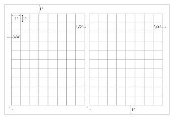 1 x 1 Rectangle<BR>Clear Gloss Polyester Label Sheet<BR>Wholesale Pkg. 250 sheets<BR><B>USUALLY SHIPS IN 24-48 HRS</B>