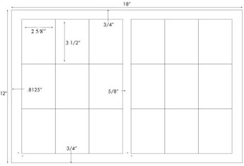 2 5/8 x 3 1/2 Rectangle<BR>Standard White Uncoated Label Sheet<BR>Wholesale Pkg. 250 sheets<BR><B>USUALLY SHIPS IN 24-48 HRS</B>