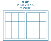 2 5/8 x 3 1/2 Rectangle<BR>Clear Matte Polyester Label Sheet<BR>Wholesale Pkg. 250 sheets<BR><B>USUALLY SHIPS IN 24-48 HRS</B>