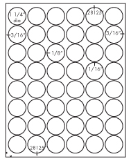 1 1/4&#34; Diameter Round Circle<BR>White High Gloss Laser Label Sheet<BR>Wholesale Pkg. 250 sheets<BR><B>USUALLY SHIPS WITHIN 24 HRS</B>
