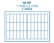 1 11/32 x 3 11/32 Rectangle<BR>White Water-Resistant Polyester Label Sheet<BR>Wholesale Pkg. 250 sheets<BR><B>USUALLY SHIPS IN 24-48 HRS</B>