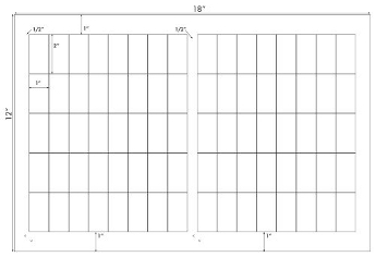 1 x 2 Rectangle<BR>Standard White Uncoated Label Sheet<BR>Wholesale Pkg. 250 sheets<BR><B>USUALLY SHIPS IN 24-48 HRS</B>