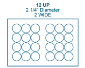 2 1/4&#34; Diameter Round<BR>Clear Gloss Polyester Label Sheet<BR>Wholesale Pkg. 250 sheets<BR><B>USUALLY SHIPS IN 24-48 HRS</B>