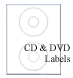 Fluorescent RED CD/DVD/Media Label Sheets