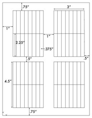 3/8 x 2 1/4 Rectangle <BR>Clear Gloss Laser Label Sheet<BR>Wholesale Pkg. 250 sheets<BR><B>USUALLY SHIPS WITHIN 24 HRS</B>