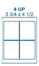 3 3/4 x 4 1/2 Rectangle<BR>Clear Gloss Laser Label Sheet<BR>Wholesale Pkg. 250 sheets<BR><B>USUALLY SHIPS WITHIN 24 HRS</B>