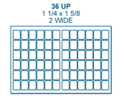 1 1/4 x 1 5/8 Rectangle<BR>Clear Matte Polyester Label Sheet<BR>Wholesale Pkg. 250 sheets<BR><B>USUALLY SHIPS IN 24-48 HRS</B>
