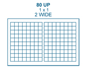 1 x 1 Rectangle<BR>Clear Matte Polyester Label Sheet<BR>Wholesale Pkg. 250 sheets<BR><B>USUALLY SHIPS IN 24-48 HRS</B>