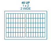 1 x 2 Rectangle<BR>White Water-Resistant Polyester Label Sheet<BR>Wholesale Pkg. 250 sheets<BR><B>USUALLY SHIPS IN 24-48 HRS</B>