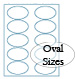 PMS 151 Orange Oval Label Sheets