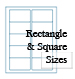 White Opaque BLOCKOUT Rectangle Label Sheets