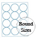PMS 151 Orange Round Label Sheets